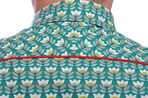 détail de la chemise l'élégant